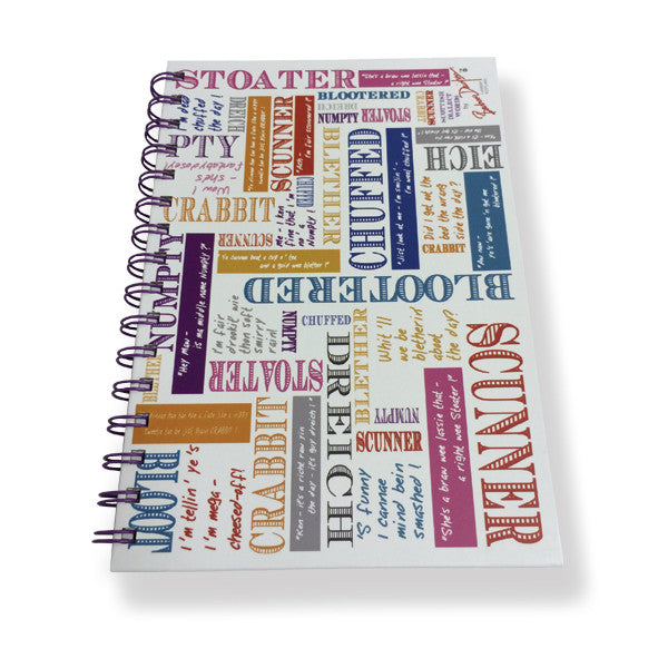 Scottish Dialect Notebook A5 Size