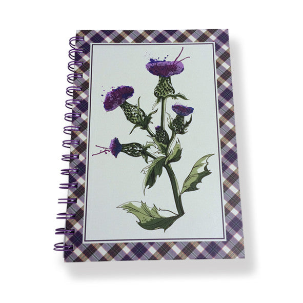 Wild Thistle Notebook A5 SIze