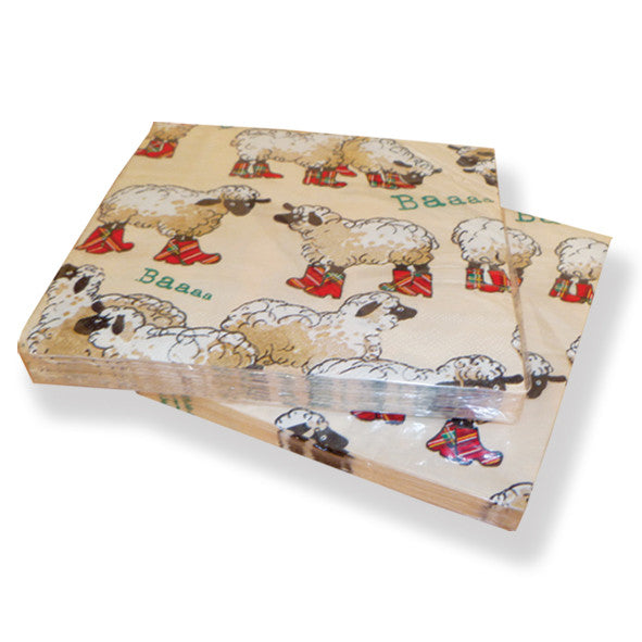 Puddle Jumper Sheep Paper Napkins (20) PN01PJ