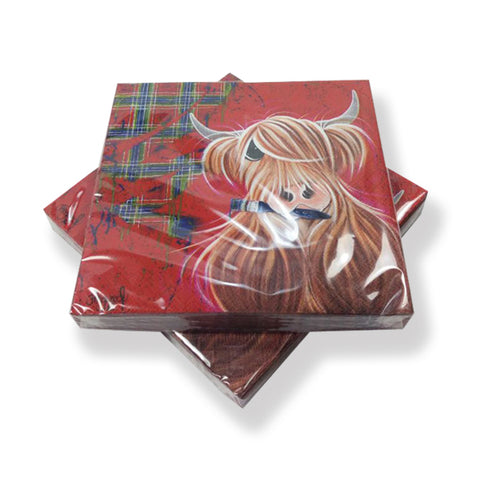McMoo Highland Cow Paper Napkins (PN01TP)