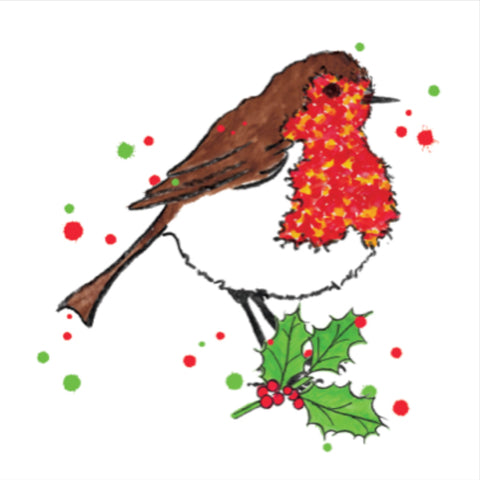 Christmas Robin Christmas Card Pack 10 (SIC17)