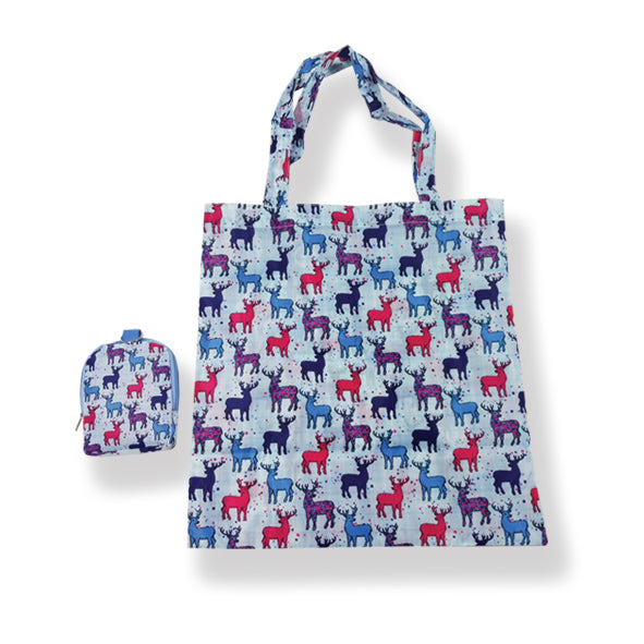 Stag Folding Shopping Bag By Scott Inness