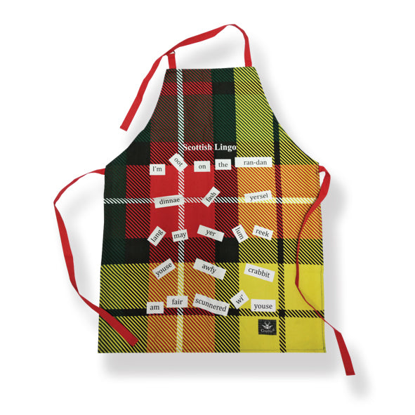 Scottish Lingo Cotton Apron (T10SL)