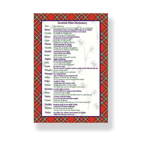 Scottish Mini Dictionary Tea Towel (T18SD)
