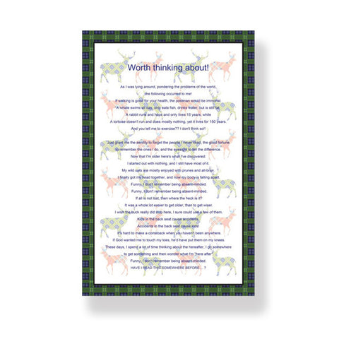 Worth Thinking About Cotton Tea Towel