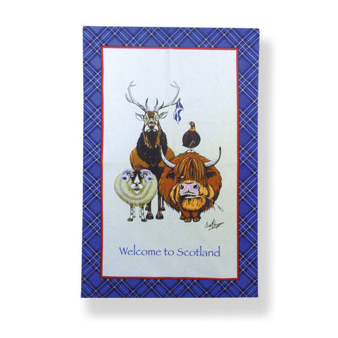 Welcome to Scotland Cotton Tea Towel