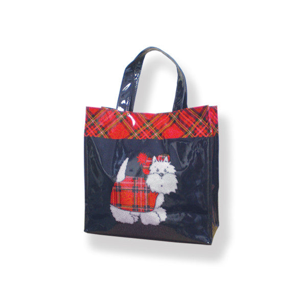 Tartan Terrier PVC Shopping Bag