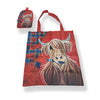 McMoo Tartan Paint Highland Cow Folding Shopping bag in Pouch (T45TP)