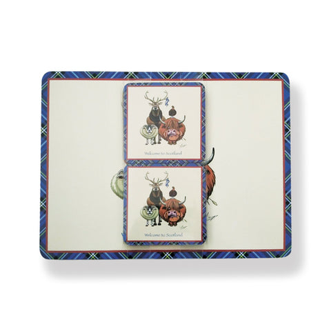 Welcome to Scotland Placemat & Coaster set 4