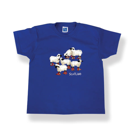 Childrens T-Shirt Sheep design Royal Blue (Puddle Jumpers)