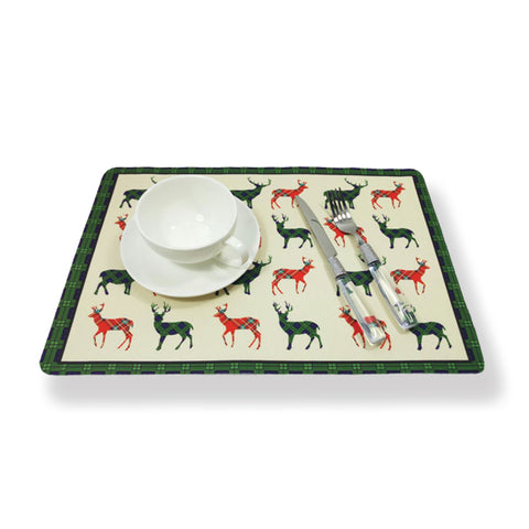 Fabric Place Mats Stag Design (WOV01SG)