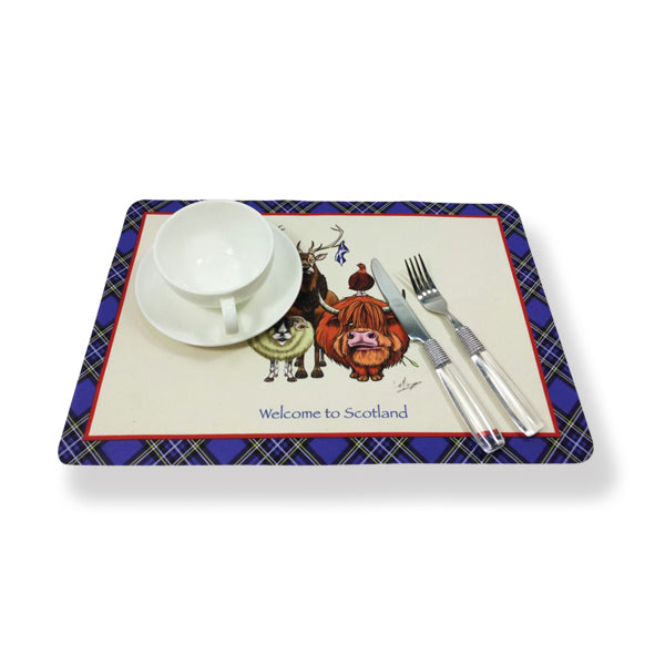 Fabric Place Mats Welcome to Scotland (WOV01WS)