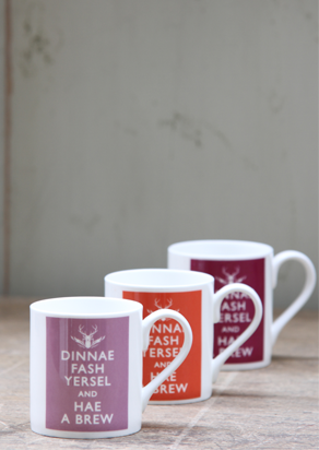 Dinnae Fash Hae a Brew - Berry Collection China Mugs