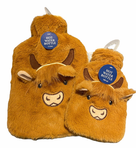 Highland Cow Hot water bottle twin pack