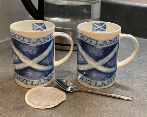 Saltire Bone China Mug Set of 2 (B15SAL)