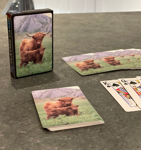 Playing Cards with highland Family image