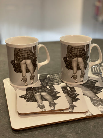Highland Swing Kitchen Set (Mug, Mats & coasters x 2each)