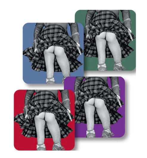 Highland Swing coloured coaster set of 4