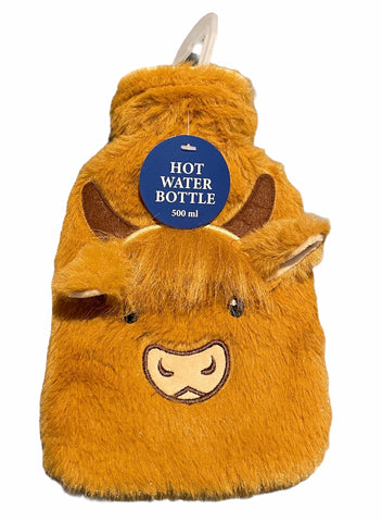 Highland Cow Hot water bottle Small (500ml)