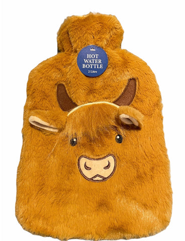 Highland Cow Hot water bottle large (2ltr)