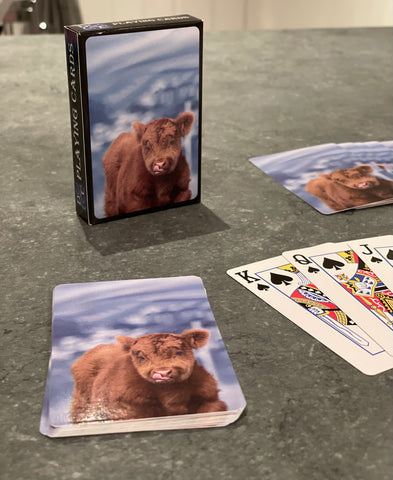 Playing cards with Cheeky Calf Image
