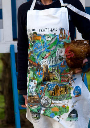 Scotland Mapped Out Apron