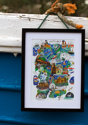 Scotland Mapped Out Art Print