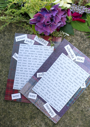 Magnetic Words Greeting Cards Tweed