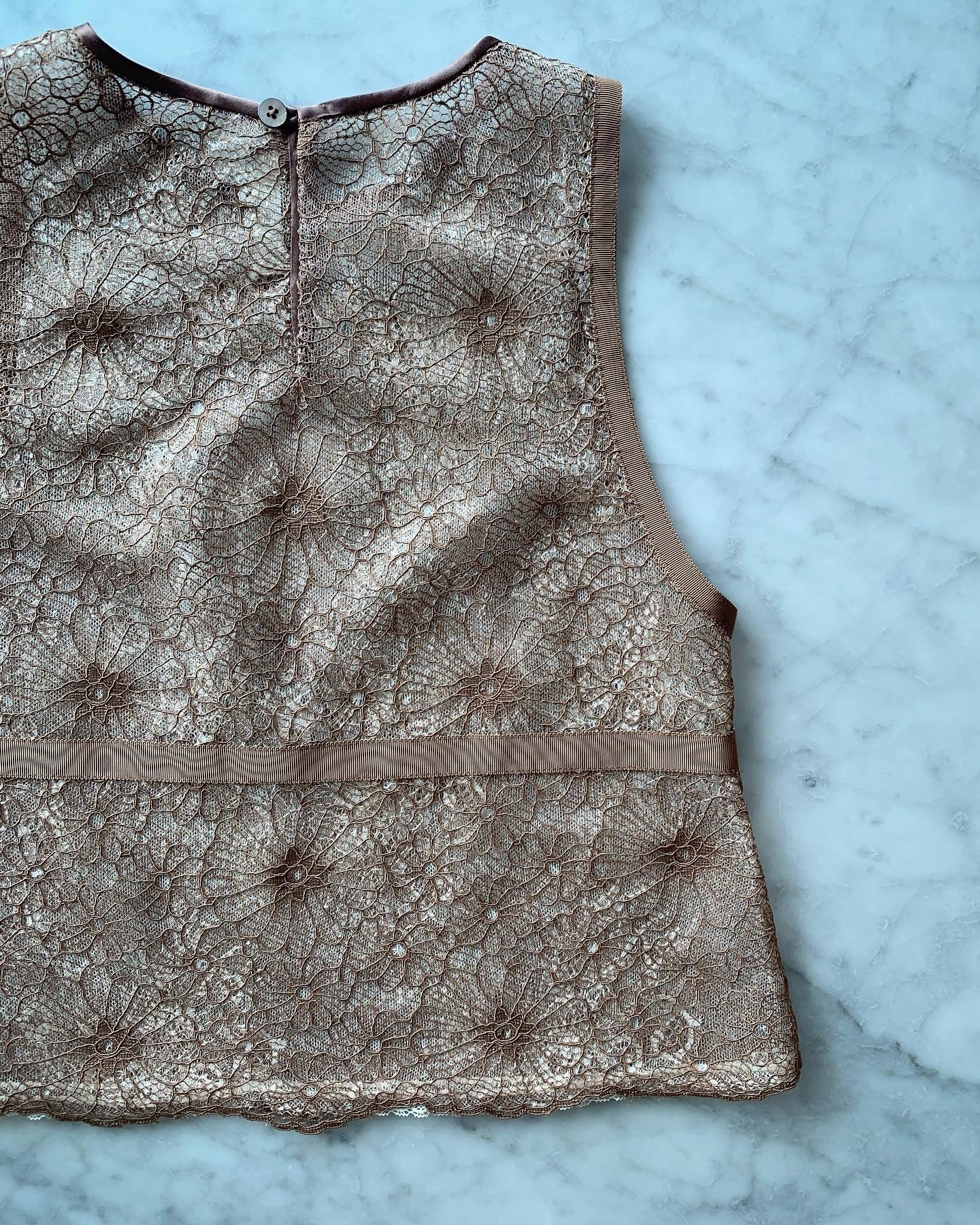 Double Layers Intricate Lace Vest