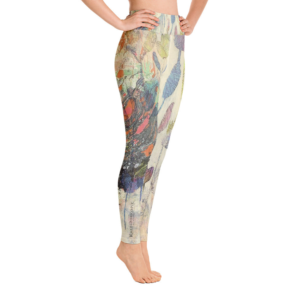 Floral & Feather Active Tights