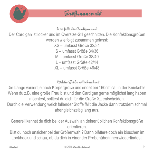"Cardigan ""Abendrot"" (Schnittmuster/Ebook)"