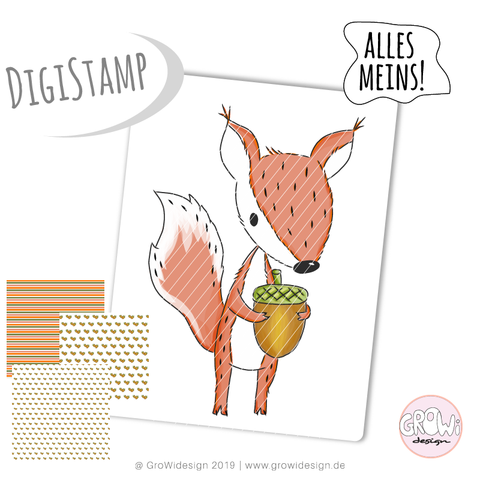 """FuchsHÖRNCHEN"" (Digistamp)"