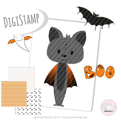 """Halloween"" (Digistamp)"