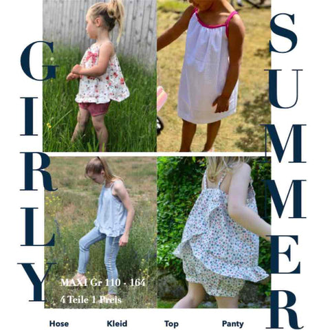 GIRLY SUMMER Set Maxi Gr. 110-164 (Schnittmuster/Ebook)