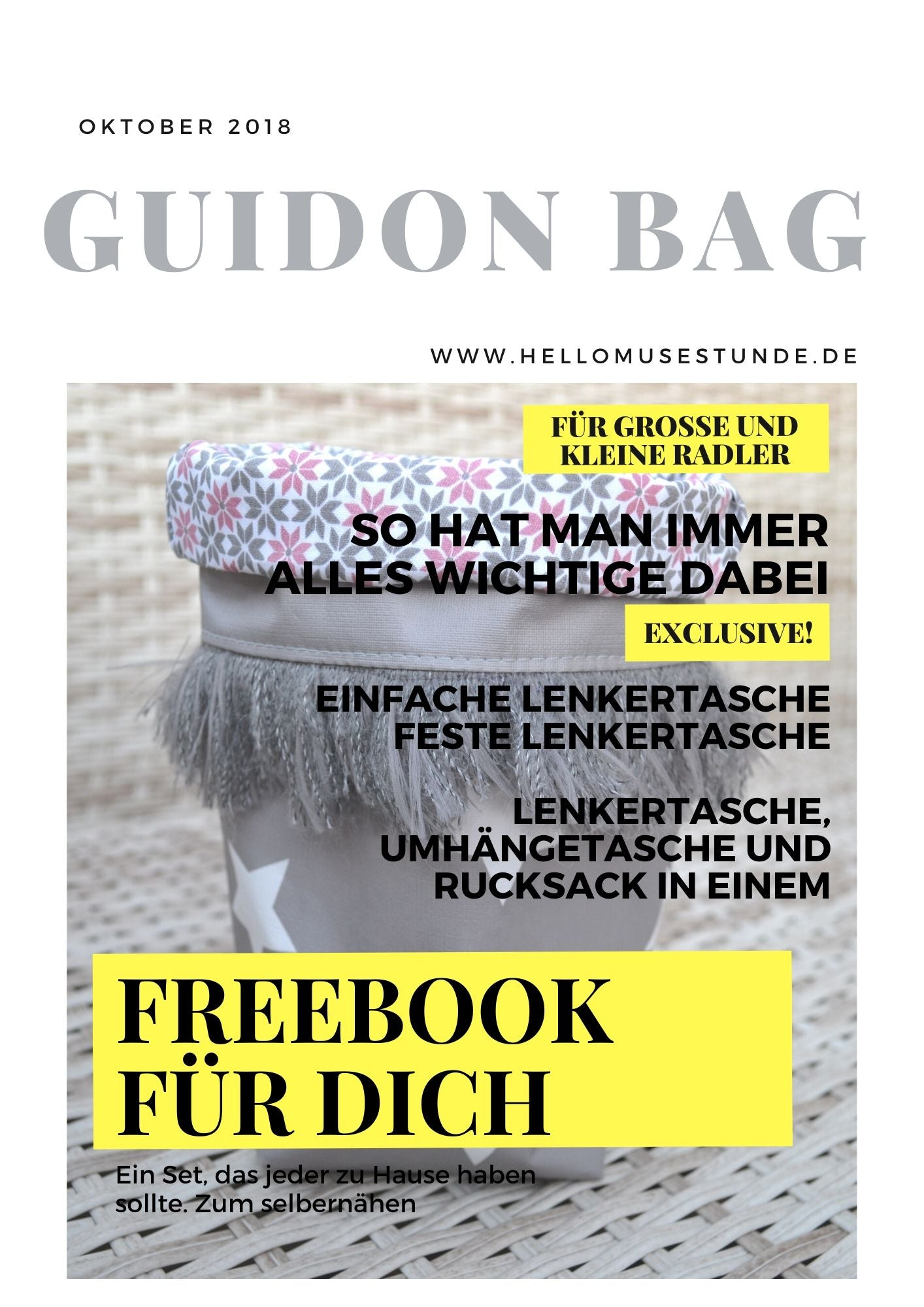 "Lenkertaschenset ""GUIDON BAG"" (Schnittmuster/Ebook )"