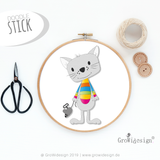 "Stickdatei ""Kater Tom"" (Stickdatei)"