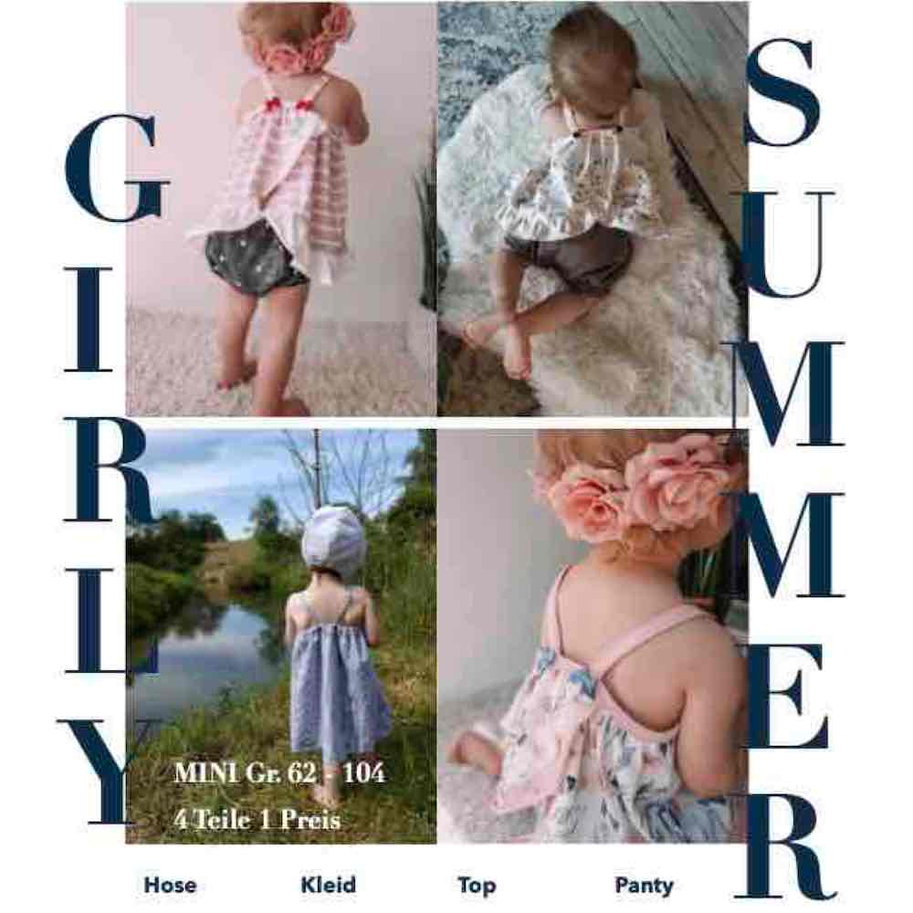 GIRLY SUMMER Set Mini Gr. 62-104 (Schnittmuster/Ebook)