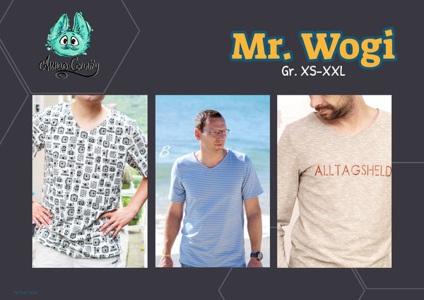"Herren Shirt ""Mr. Wogi"" Gr. XS-XXL (Schnittmuster/Ebook)"