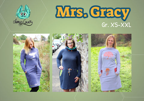 "Hoodiekleid ""Mrs. Gracy"" Gr. XS-XXL (Schnittmuster/Ebook)"