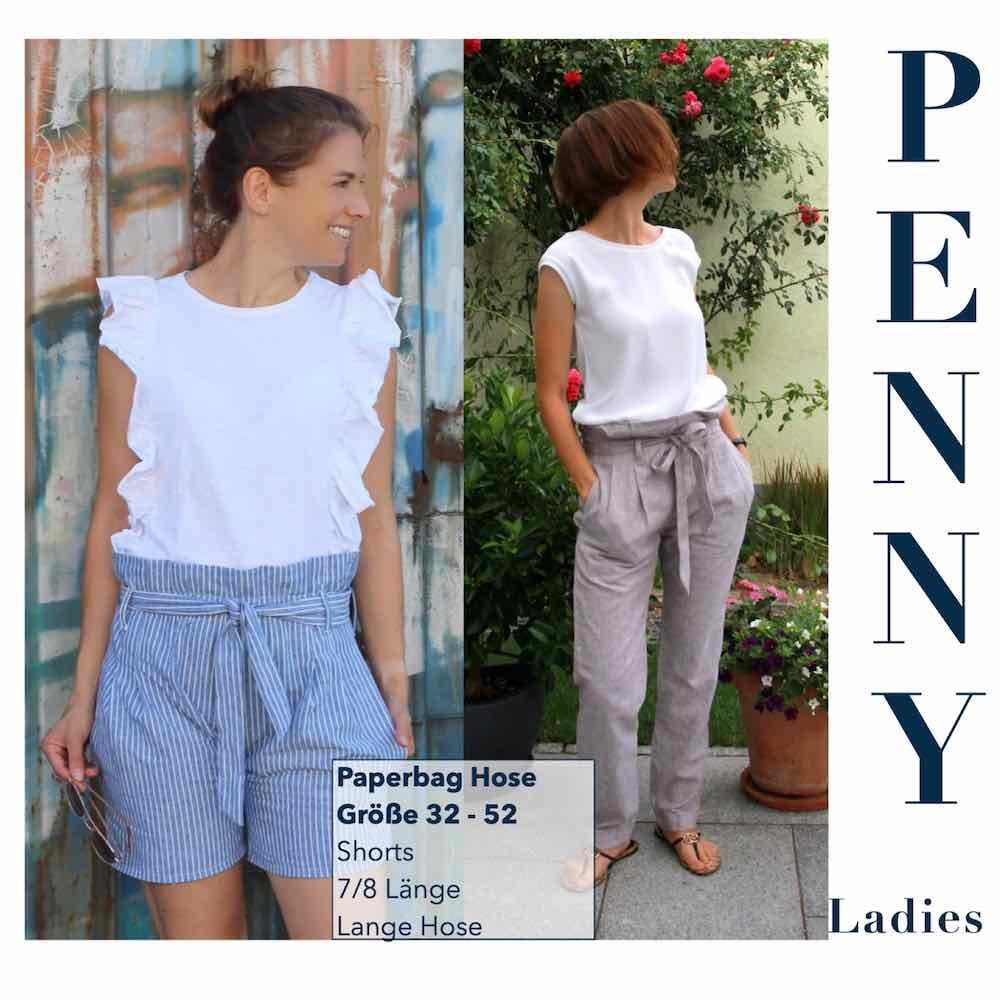 "Damen Paperbag Hose ""PENNY Ladies"" GR. 32-52 (Schnittmuster/Ebook)"