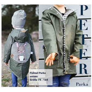 "Kinder Fishtail Parka ""PETER unisex"" GR. 74-164 (Schnittmuster/Ebook)"