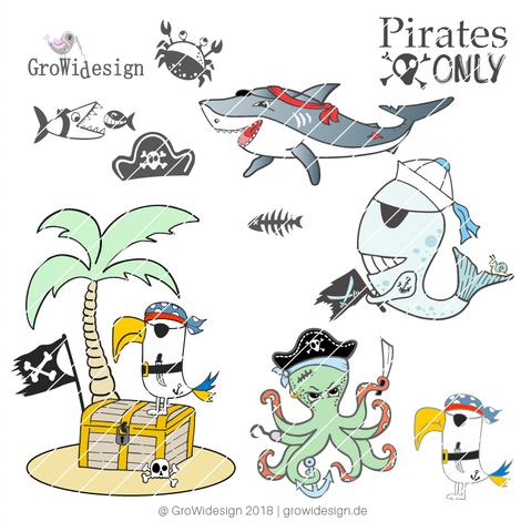 "Set ""Piratenmegapack"" (Digistamp)"