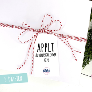GroWidesign Adventskalender 2020 (Applikationsvorlagen)