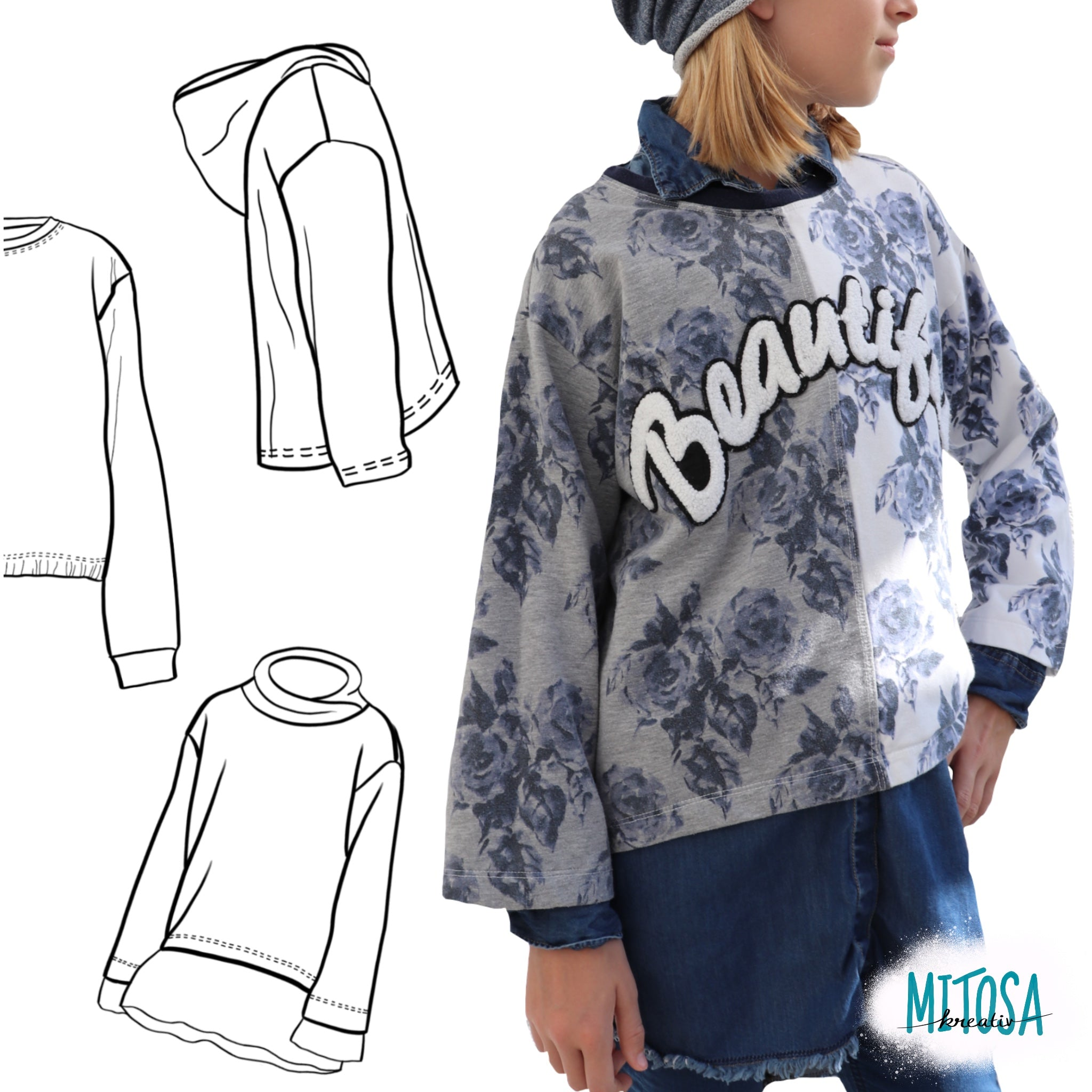 "OVERSIZED Pulli Kids"" 80-164 (Schnittmuster/Ebook)"