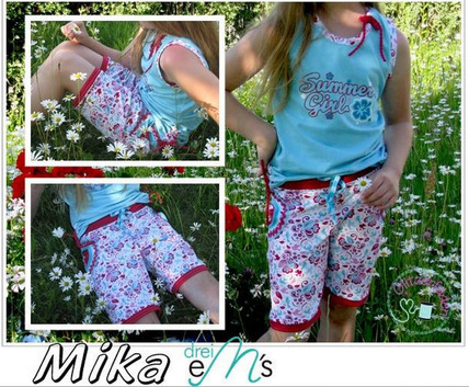 "Kinder Sommerhose ""mini MIKA"" (Schnittmuster/Ebook)"
