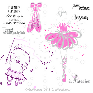 "Set ""Ballerina Megapack""  inkl. DigiStamp NilBallerina (Plotterdatei/DigiStamp)"