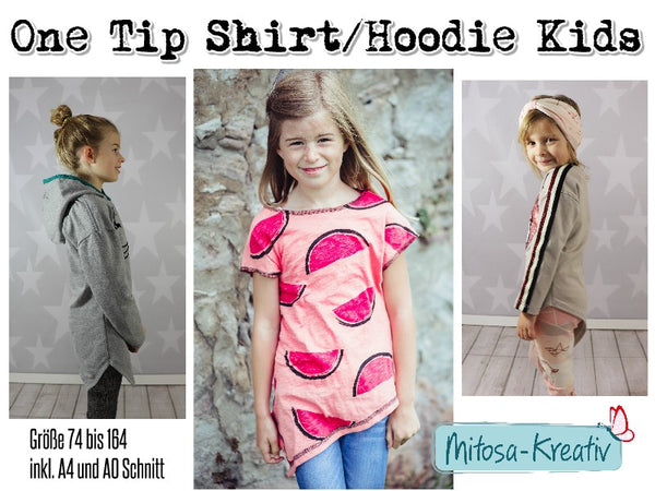 "Hoodie / Shirt ""One Tip Shirt Kinder"" 74-164 (Schnittmuster/Ebook)"