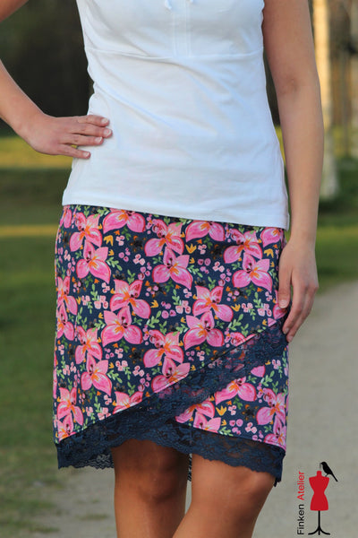 "Damen-Rock ""Shabby Asymmetrie Skirt"" 34-52 (Schnittmuster/Ebook)"