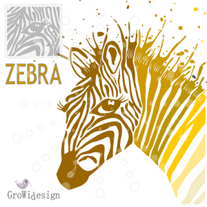 """Splash Zebra""  (Plotterdatei)"