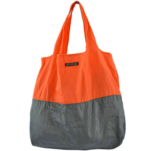 Fashion color matching high density nylon waterproof shopping bag
